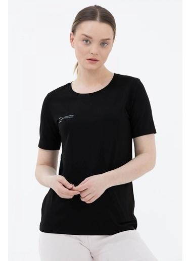 Sementa Basic Yazı Baskılı Tshirt - Siyah Siyah